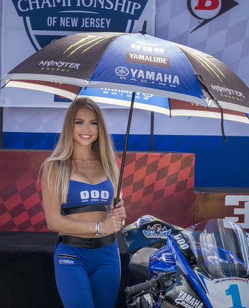 Moto America Umbrella Girl At New Jersey Motorsports Park