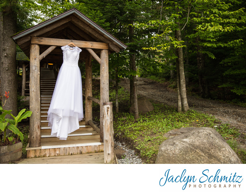 hanging wedding dress lake placid ny