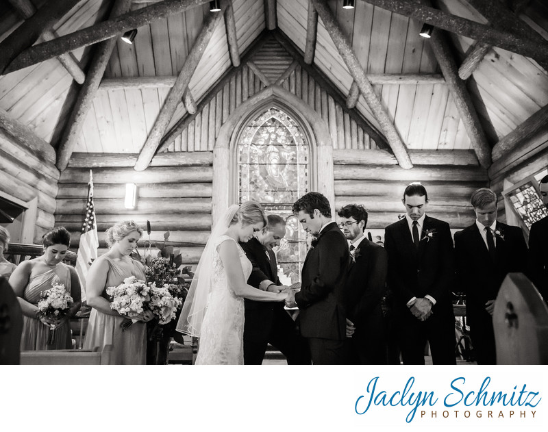 rustic log cabin ceremony Vermont