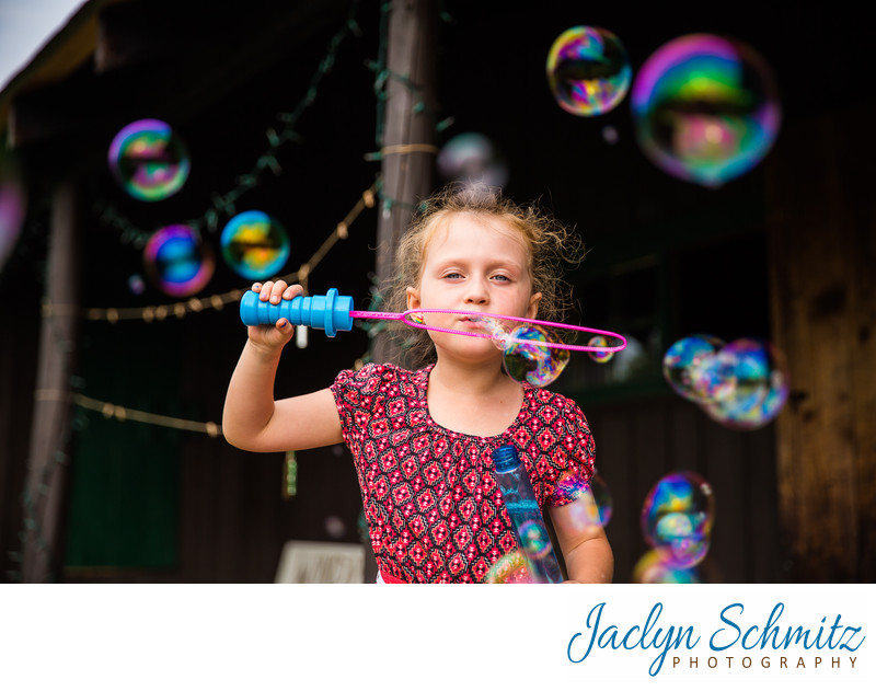 bubble games for kids at wedding