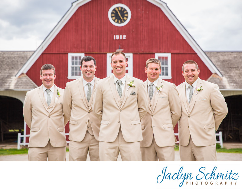 Vermont groomsmen wedding portrait