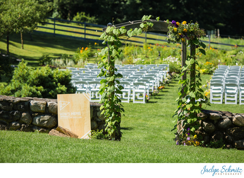 West Mountain Inn Wedding Arch