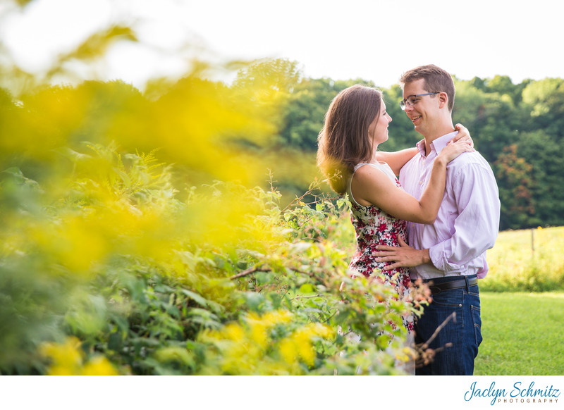 Flower Garden Engagement Session VT