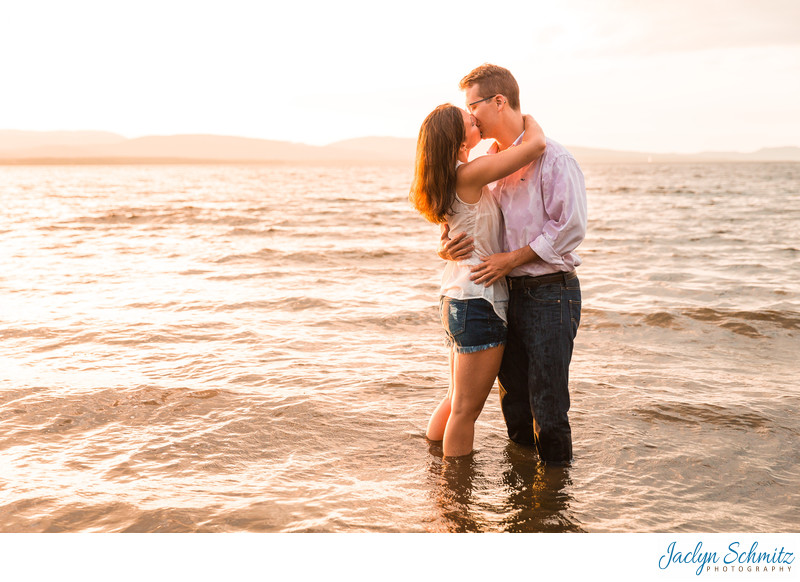 Summer Lake Engagement Session VT
