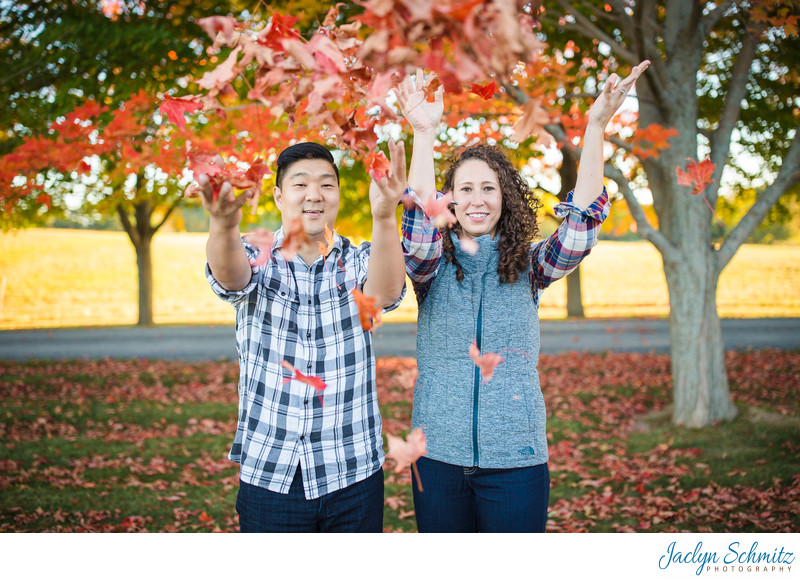 Autumn Engagement Session Shelburne Farms