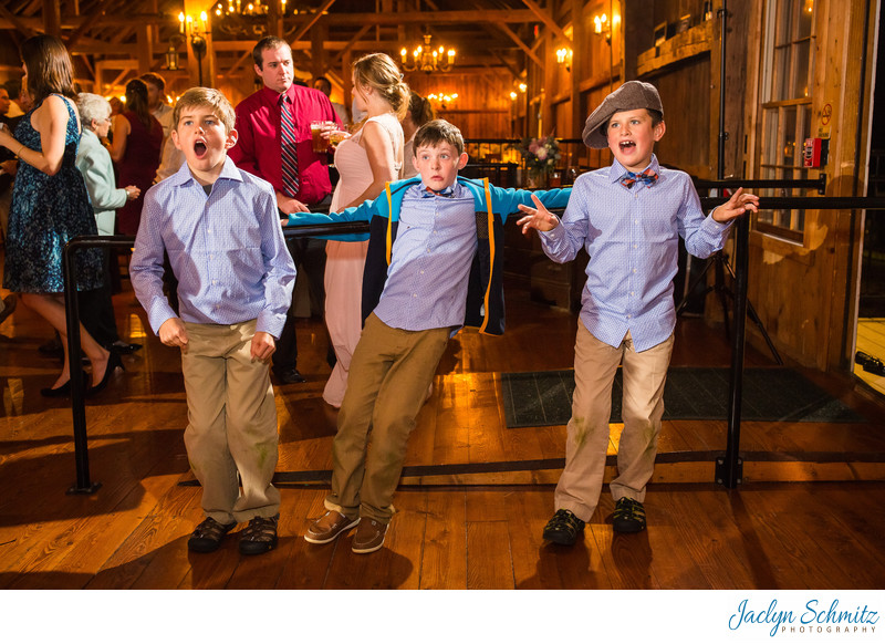 Silly kids wedding Vermont