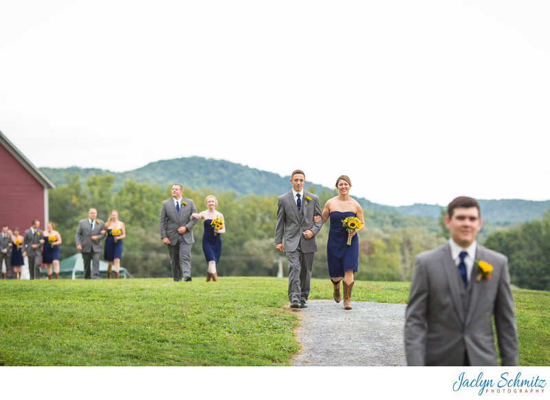 Outdoor wedding processional VT