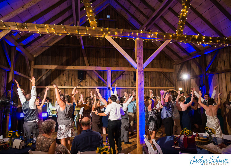 Wedding reception Mansfield Barn VT