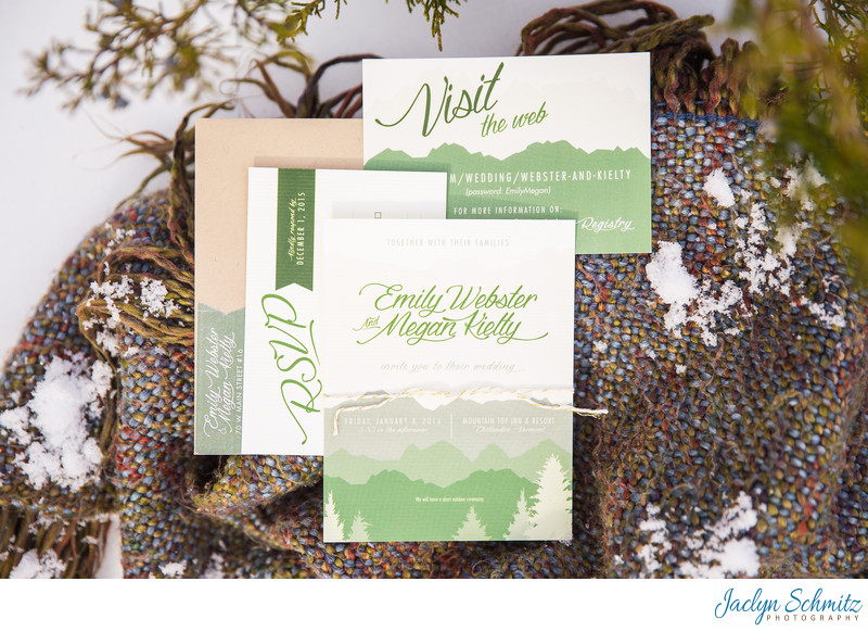 Winter gay wedding invitation ideas