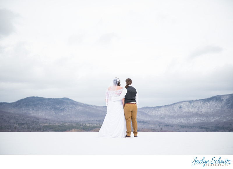 Winter Mountain wedding in Vermont