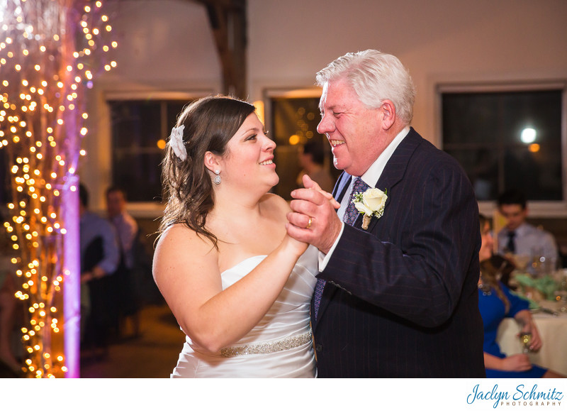 Happy father daughter first dance
