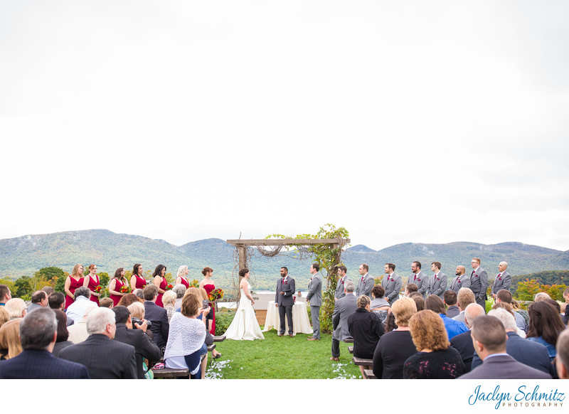 The Knoll wedding ceremony Mountain Top Inn