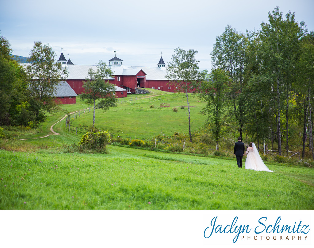 large red barn wedding