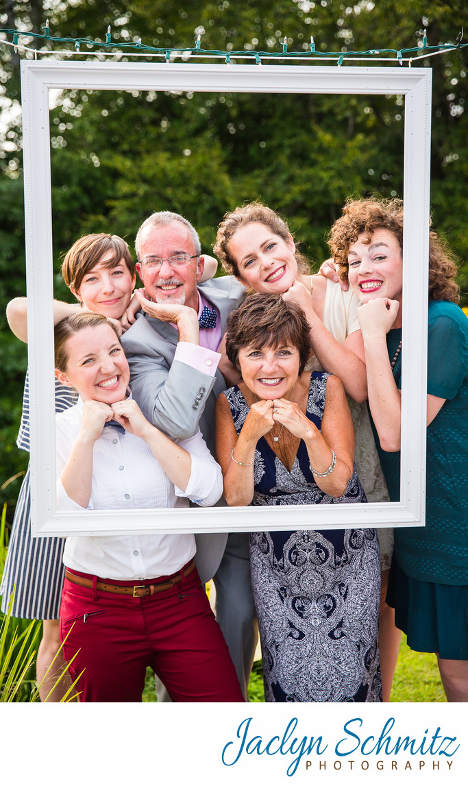cute photobooth ideas for summer camp wedding