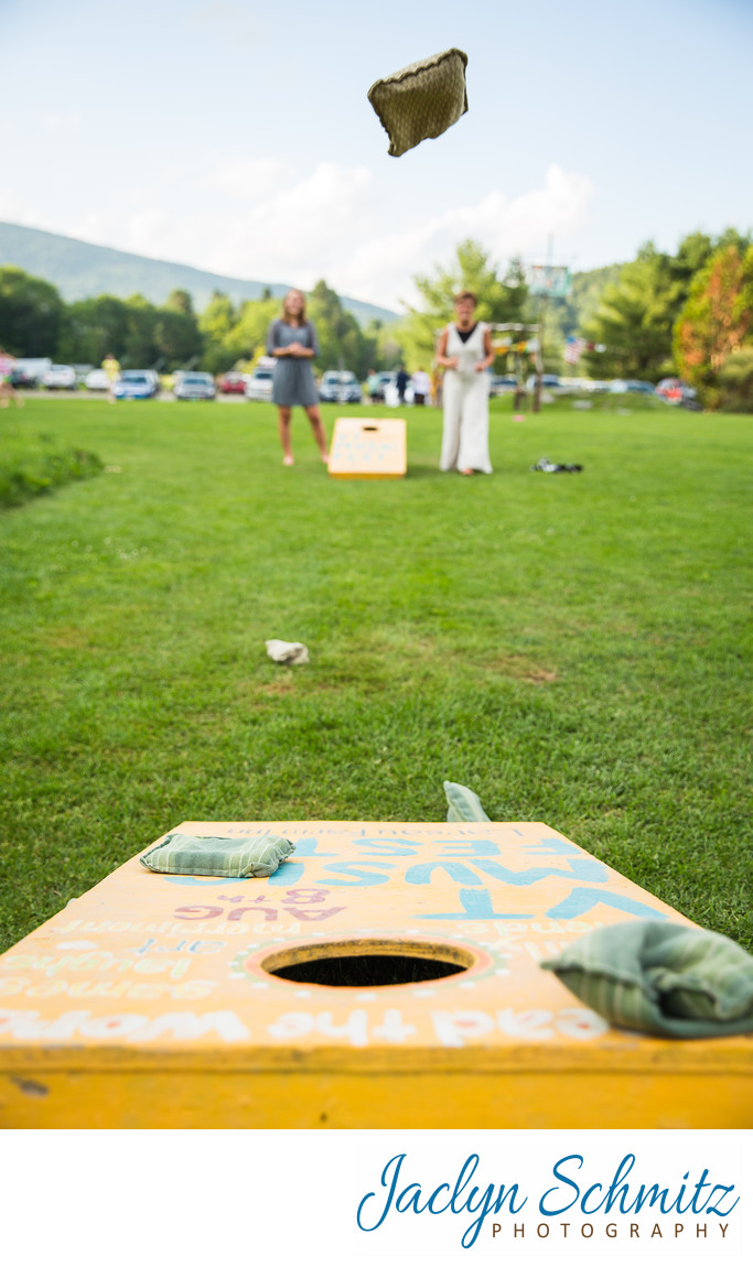 cornhole wedding activities American Flatbread