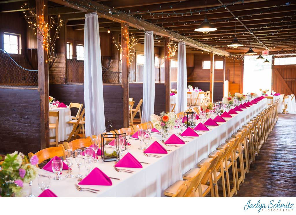 Horse stable wedding reception