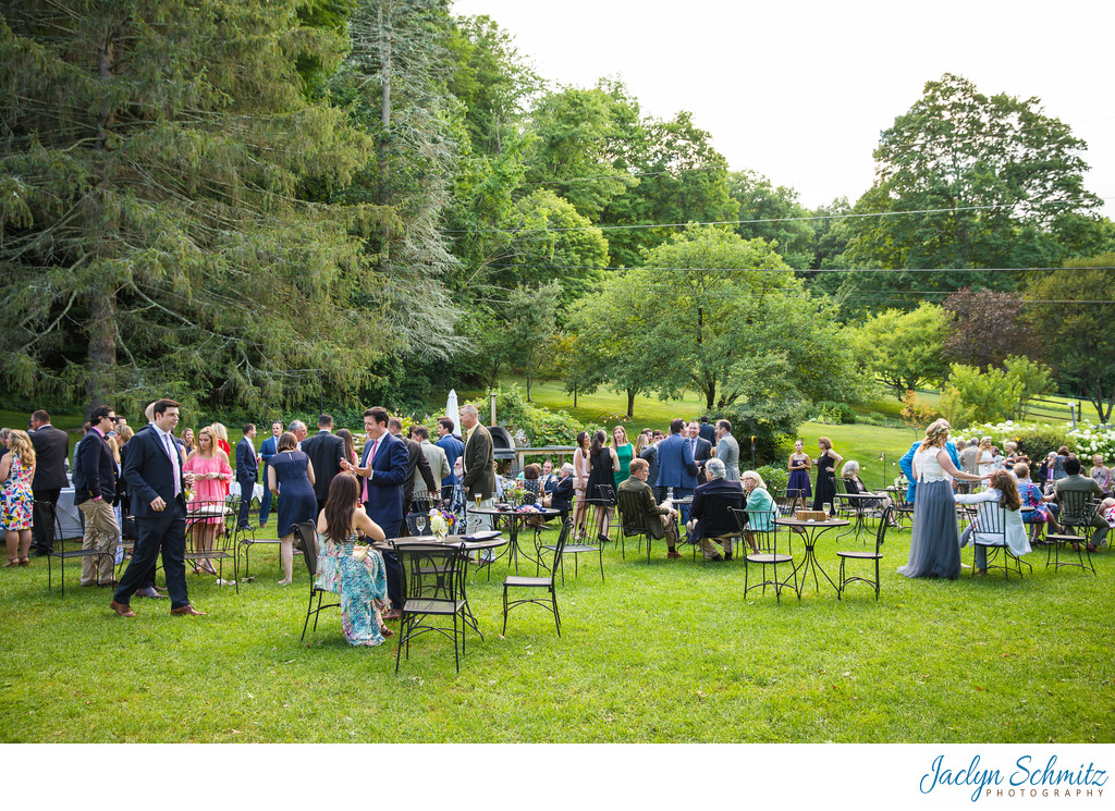 Outdoor cocktails VT wedding