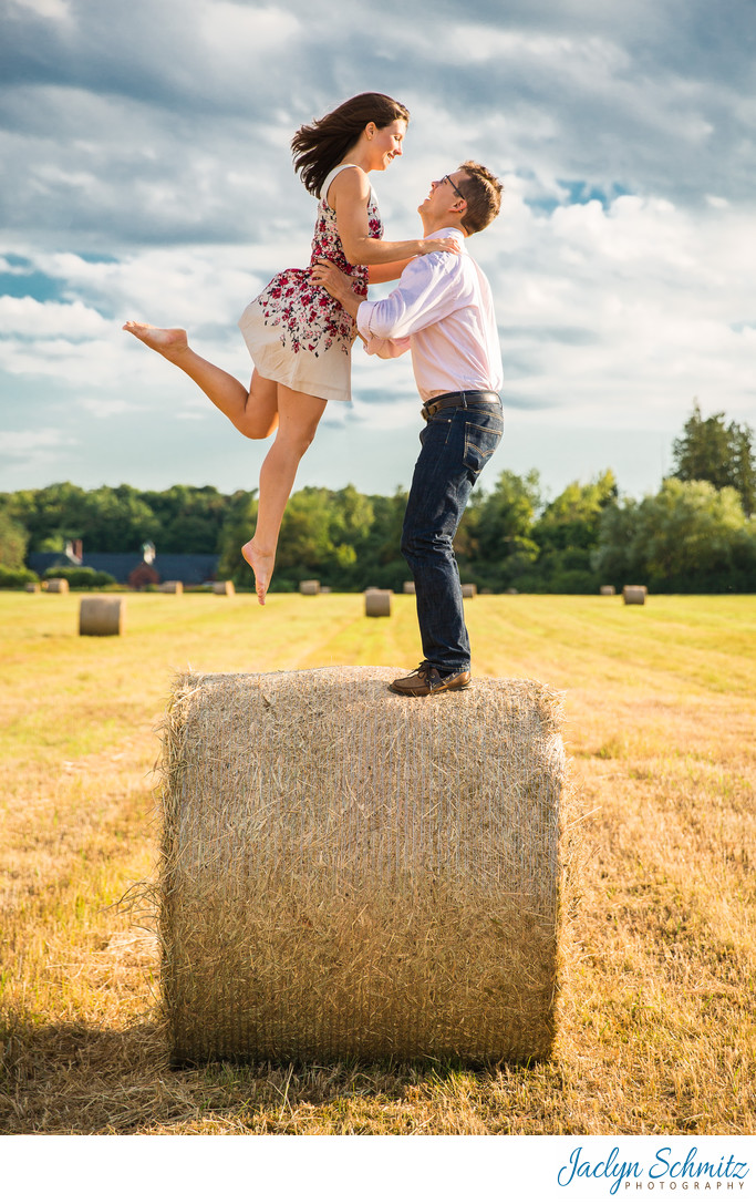 Fall Engagement Session at Shelburne Farms