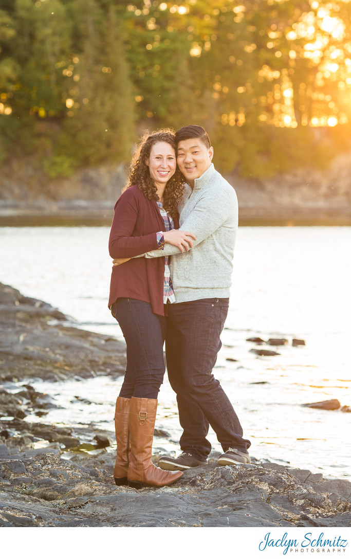 Sunset Lake Engagement Session Vermont