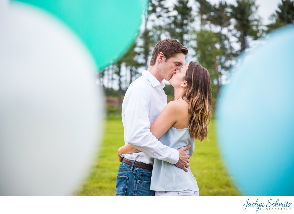 Balloons Engagement Session Idea