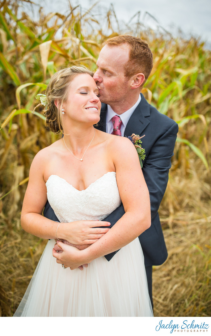 Corn field wedding Vermont