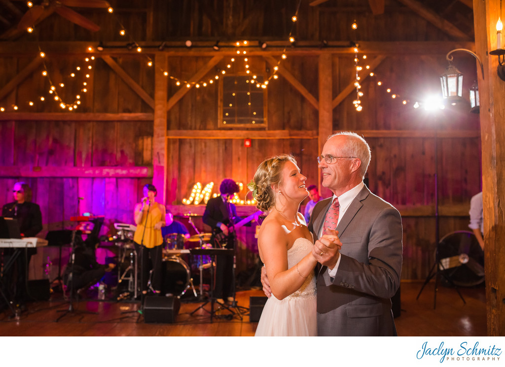 Father daughter dance at Boyden Farms VT