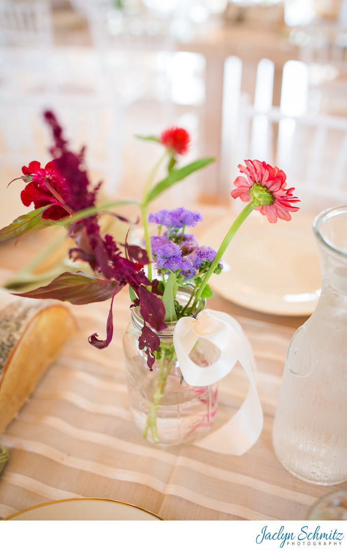 Simple wildflower centerpiece
