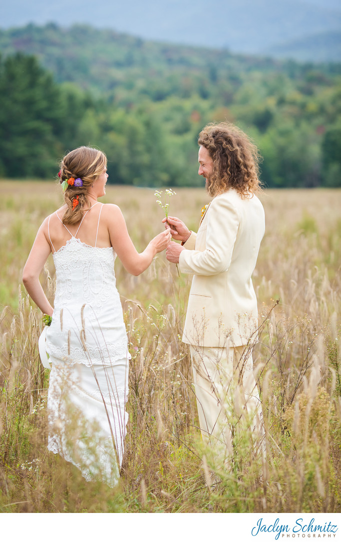 Boho wedding portraits VT
