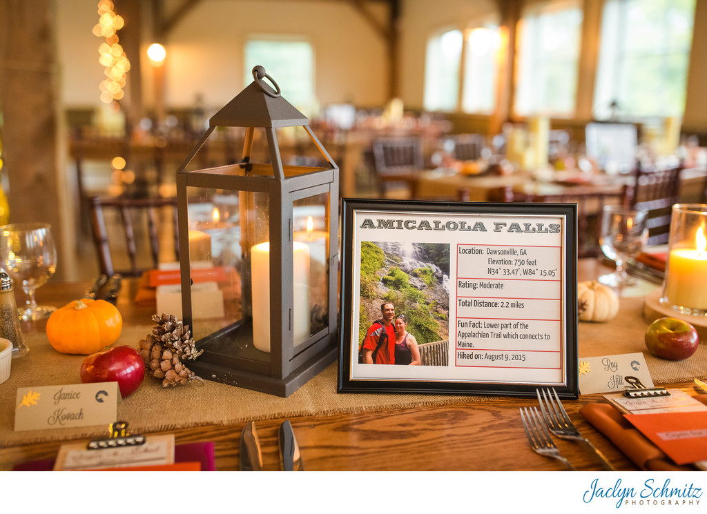 Hiking themed wedding decor ideas VT