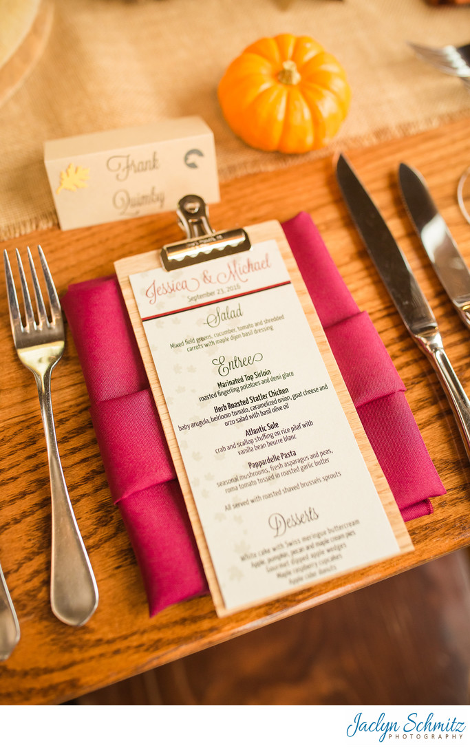 Mountain Top Inn wedding catering menu