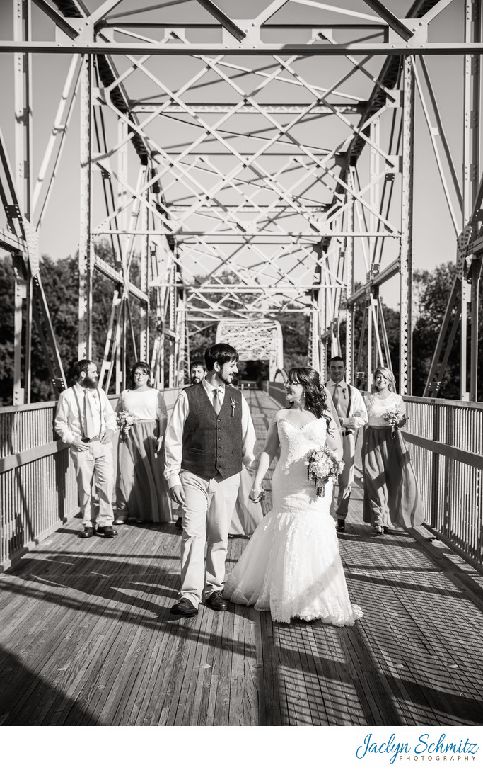 Bridge wedding portraits Highgate VT