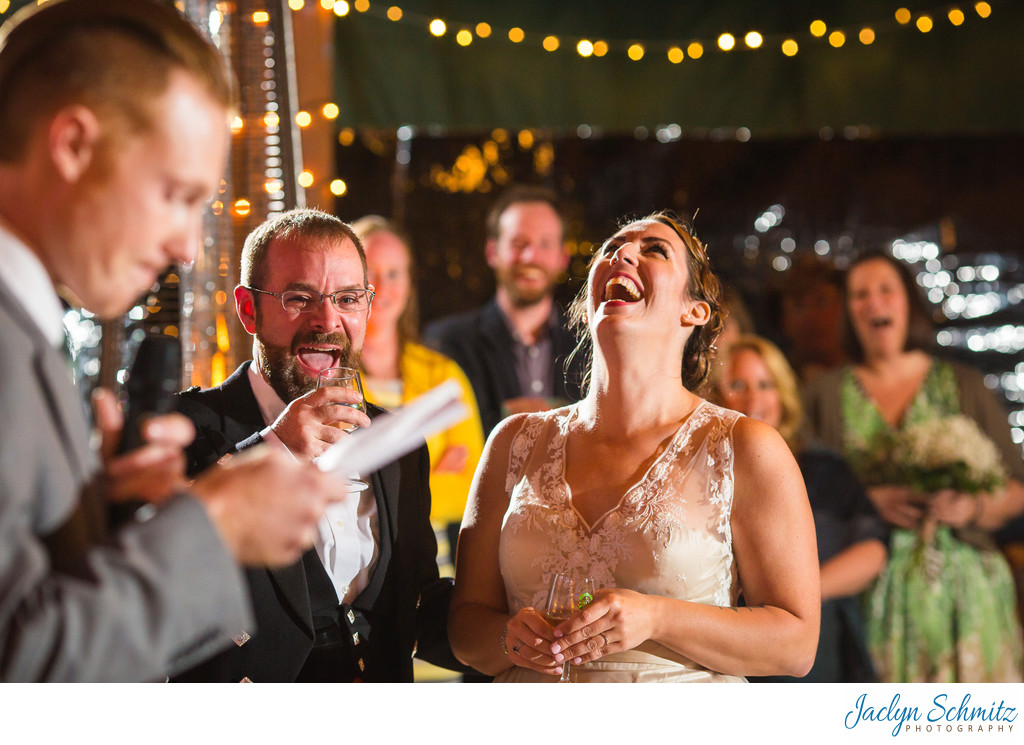 Best candid toast wedding photos