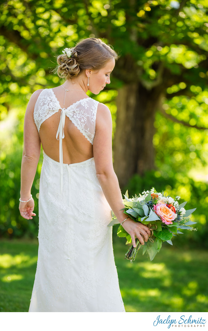 Crisanver House bride in lace gown