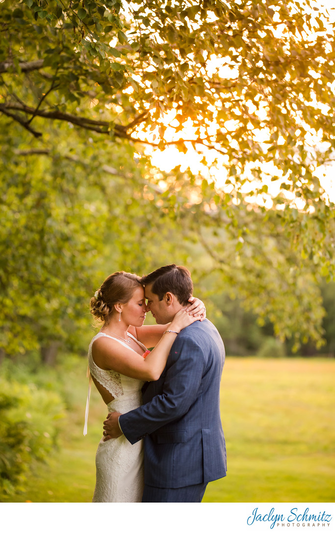 Crisanver House wedding photo at sunset