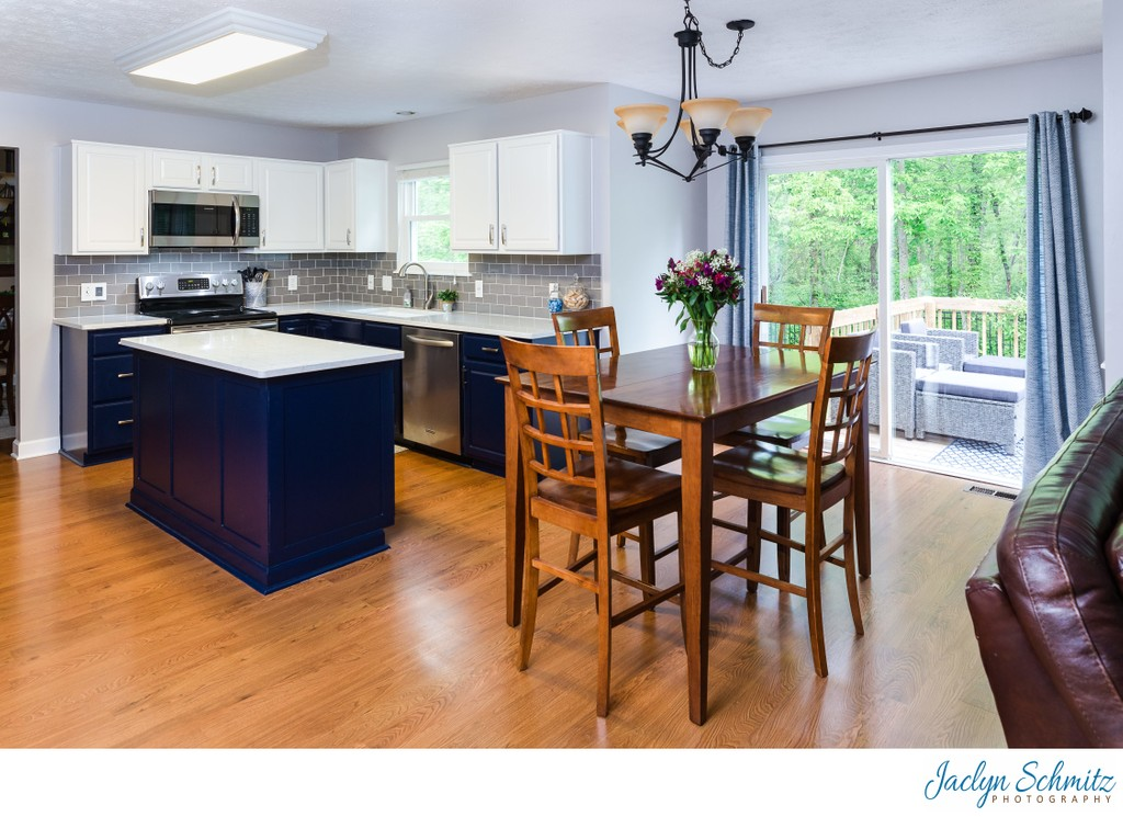 Kitchen and breakfast table home photography