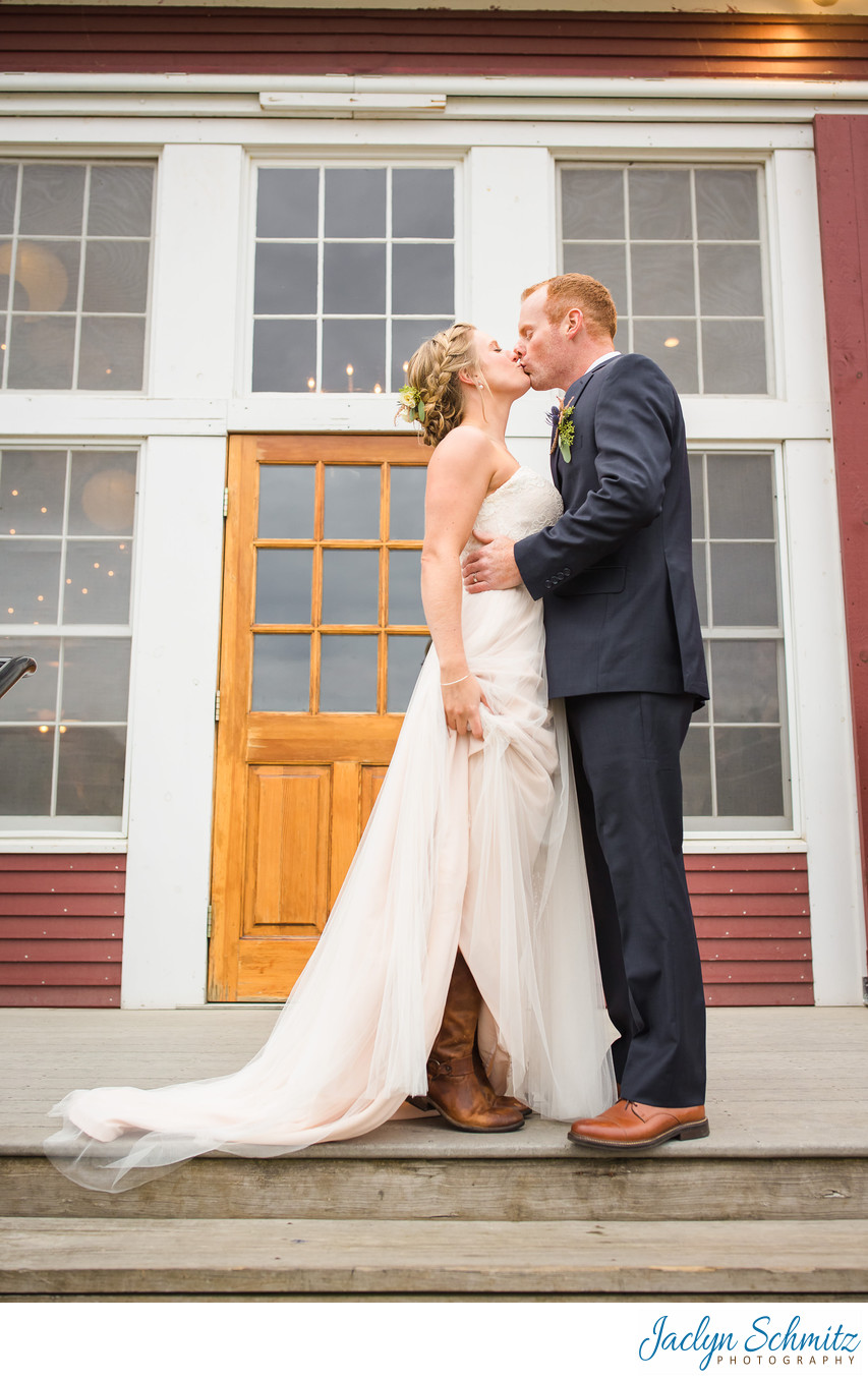 Cowboy boot wedding vermont