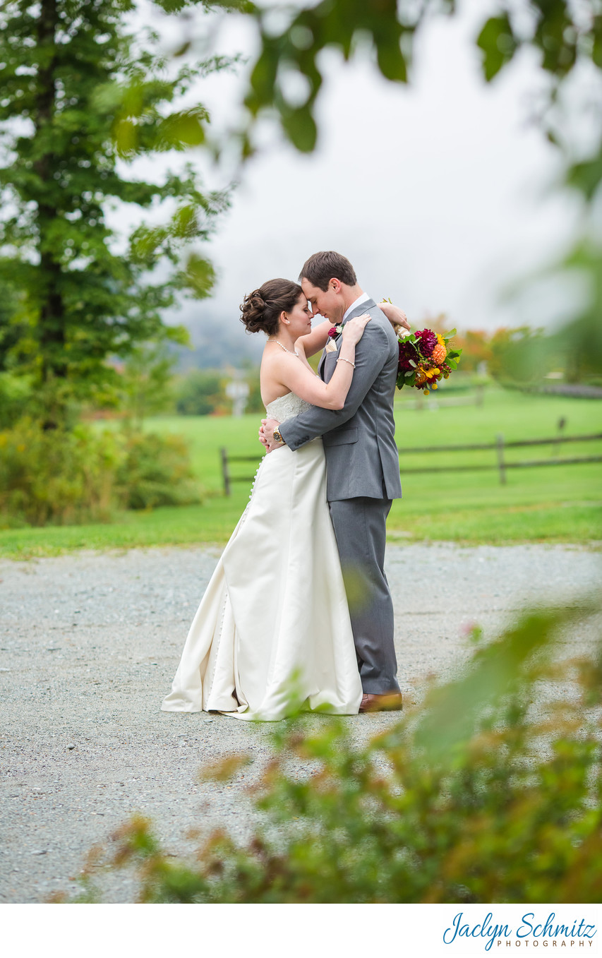 Jewel at Meadow's Edge Mountain Top Inn cabin wedding
