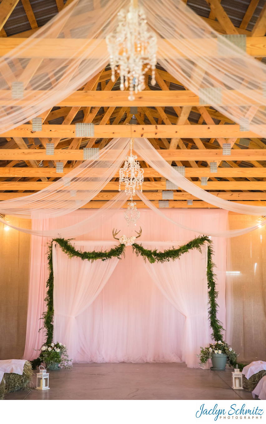 Chandelier barn wedding VT