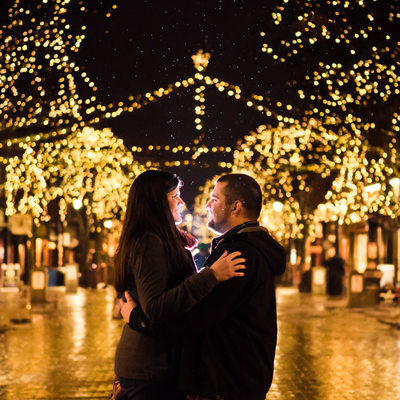 Church Street VT Night Engagement Session
