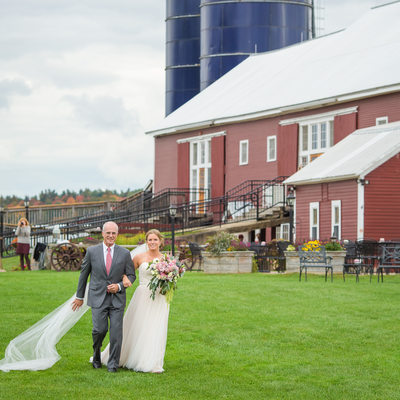 Bride and Father Boyden Farm