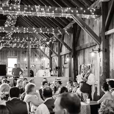 Toasts at Mansfield Barn