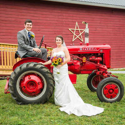 Tractor wedding photos VT