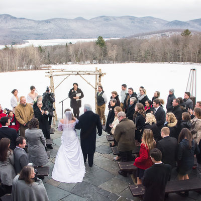 Mountain Top Inn The Terrace wedding ceremony