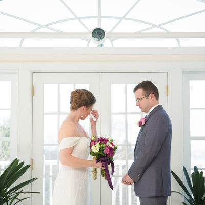 Winter wedding at Crisanver House
