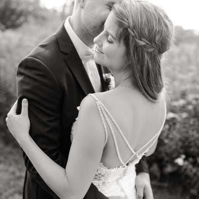 Intimate wedding portraits Indiana
