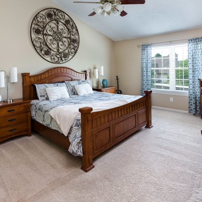 Master bedroom real estate photography