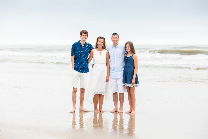 Cloudy Day Beach Portraits Topsail Beach