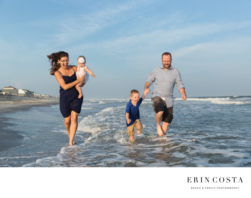 Fun Family Photos Surf City