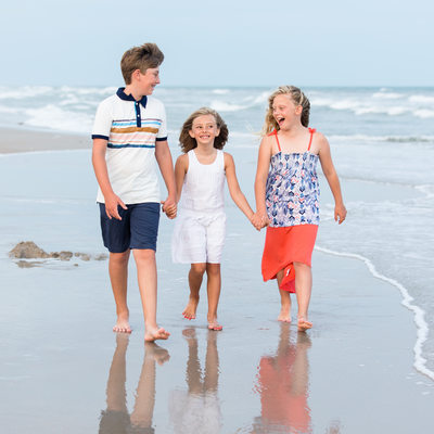 Fun Candid Family Photos Topsail Island