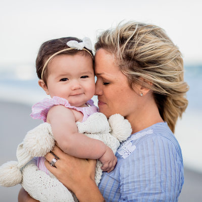 Mother Daughter Portraits at Topsail Beach